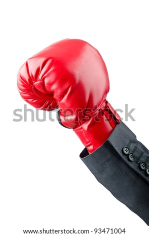 Businessman with boxing gloves