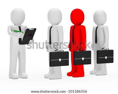 businessman with briefcase leadership hold pencil checklist