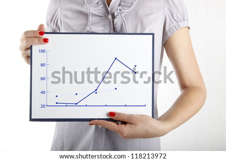Businessman with graph concept