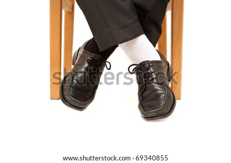 Businessman with non matching socks