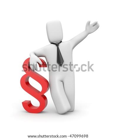 Businessman with paragraph symbol