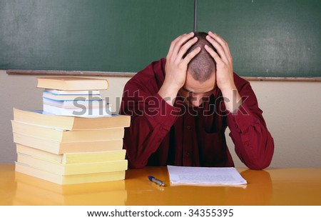 businessman with problems - stock photo