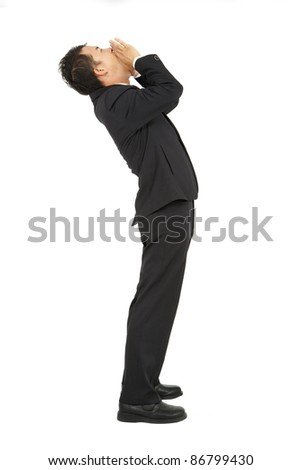 Businessman with shouting