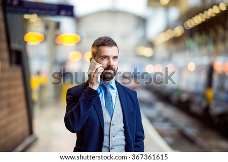 Businessman with smart phone #367361615