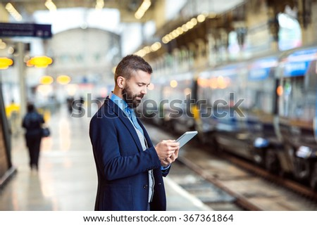 Businessman with smart phone #367361864