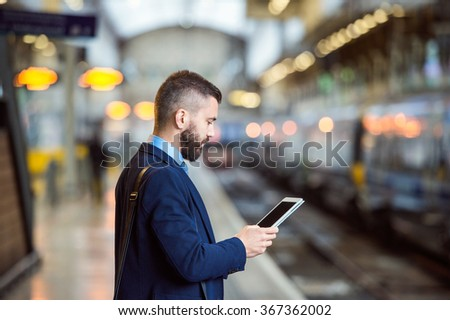 Businessman with smart phone #367362002