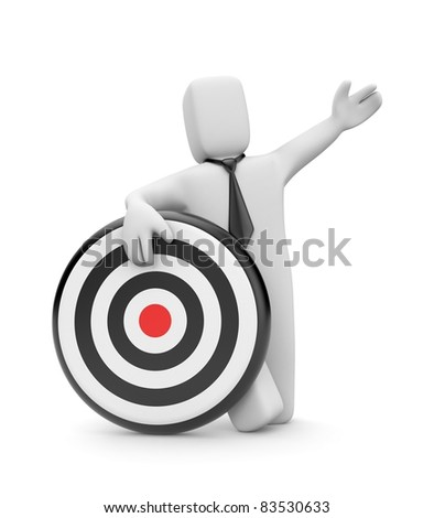 Businessman with target