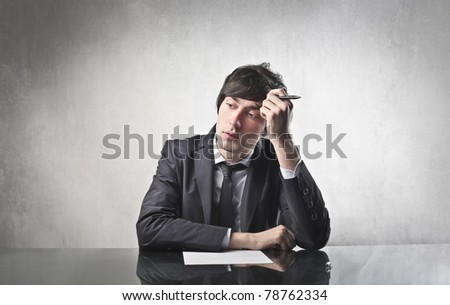Businessman with thoughtful expression