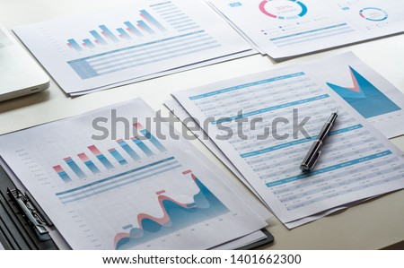businessman working calculate data document graph chart report marketing research development  planning management strategy analysis financial accounting. Business office concept. #1401662300