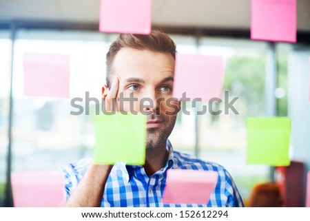 Businessman working on new project strategy