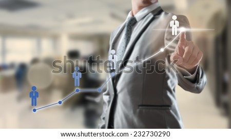 businessman working with...