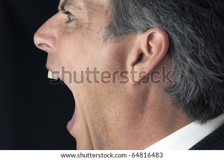 Businessman Yelling From The Side