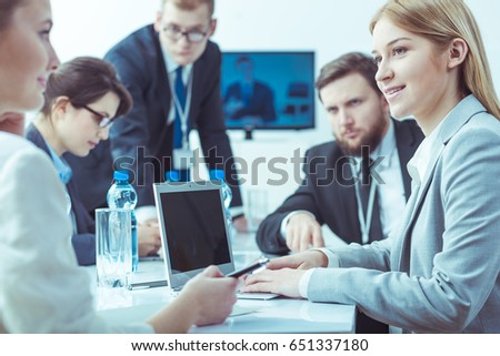 Businessmen and businesswomen at board meeting in the company - Shutterstock ID 651337180