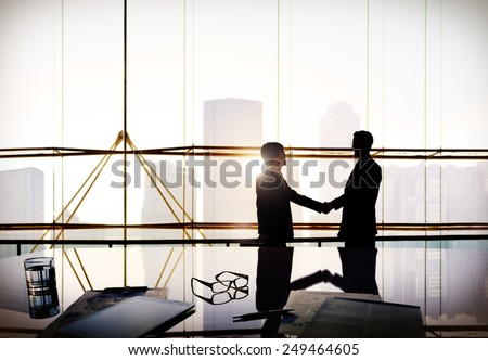 Businessmen Corporate Discussion Meeting Partnership Concept