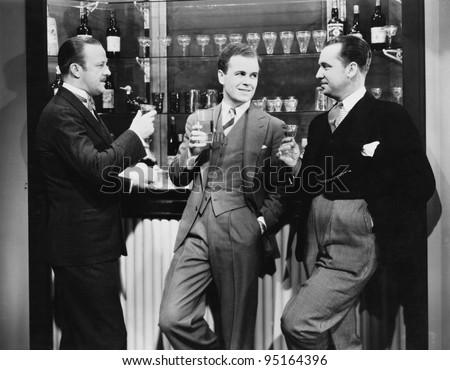 businessmen drinking together...
