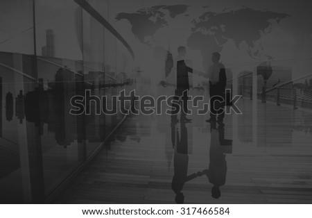 Businessmen Handshake Corporate Greeting Communication Concept #317466584