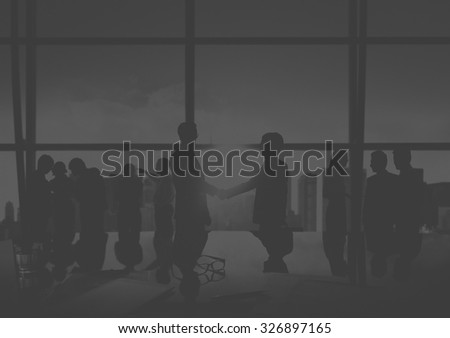 Businessmen Handshake Deal Business Commitment Concept #326897165