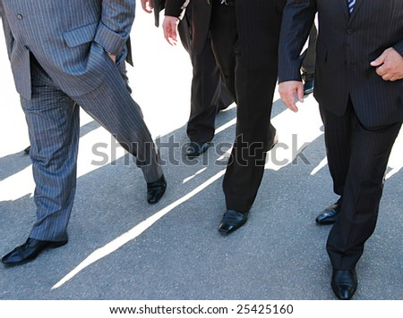 businessmen on their way to the office