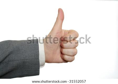 Businessmen's hands thumbs-up
