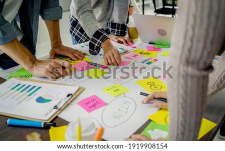 Businesspeople Analyzing Statistics Financial Concept
