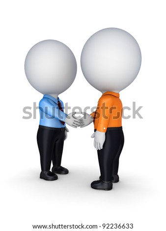Businesspeople shaking hands.Isolated on white background.