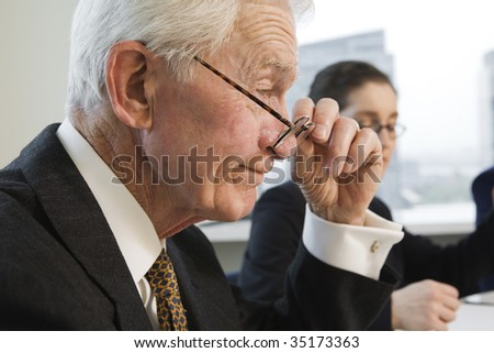Businesspeople working. - stock photo