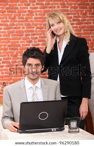 Businesspeople working at home