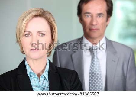 Businesswoman and her partner - stock photo