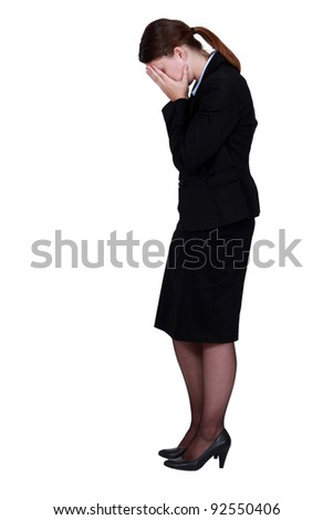 businesswoman crying