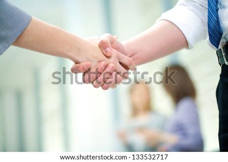 Businesswoman doing an agreement