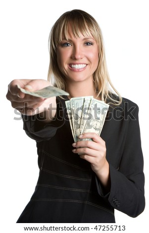 Businesswoman Holding Money