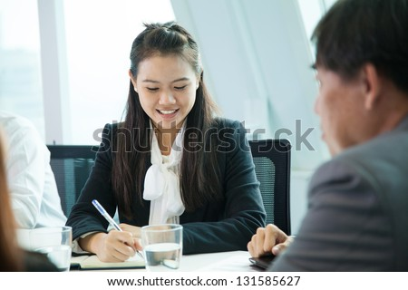 Businesswoman in meeting room
