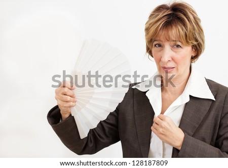 Businesswoman  in Menopause.