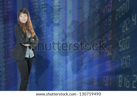 Businesswoman or stock broker