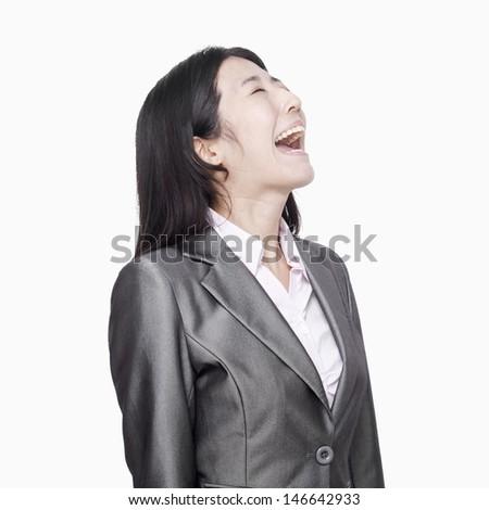Businesswoman screaming