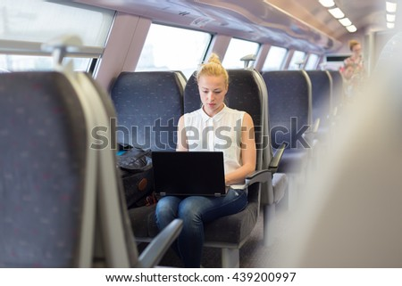 businesswoman sitting and...