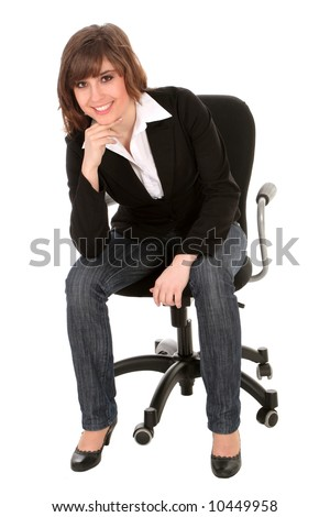 Businesswoman sitting on an office chair