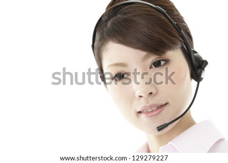 Businesswoman, white back image