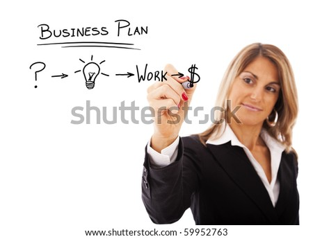 Businesswoman with a strategy plan to be successful in her business