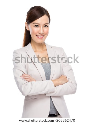 Businesswoman with arm crossed
