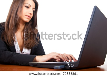 Businesswoman working with her laptop