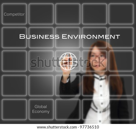 Businesswoman writing concept, business environment