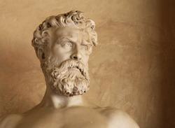 bust of an antique man