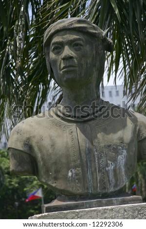 Bust of Datu Amai Pakpak (aka Datu Akadir), famous for resisting Spanish subjugation efforts in the 19th century.