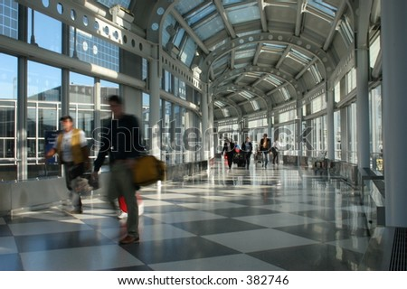 Bustle of the airport