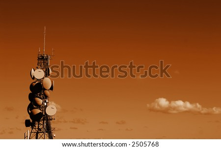Busy Communications Tower Landscape