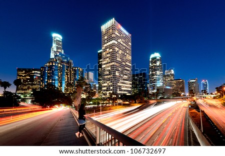 Busy Downtown Los Angeles