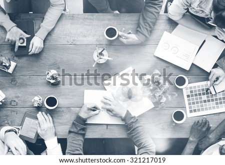 Busy Group of People Discussion Startup Business Concept