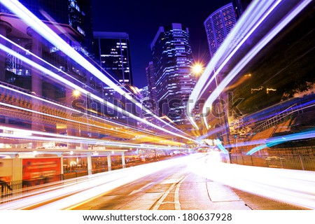 Busy traffic in Hong Kong #180637928