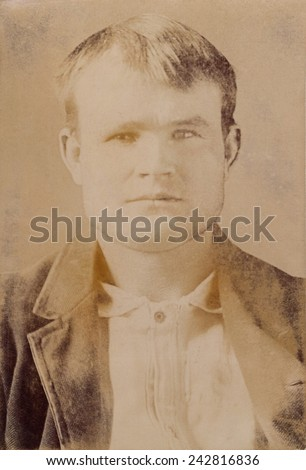 Butch Cassidy was the alias of Robert LeRoy Parker. Actor Paul Newman portrayed Cassidy in the 1967 film, BUTCH CASSIDY AND THE SUNDANCE KID. Portrait ca. 1900.